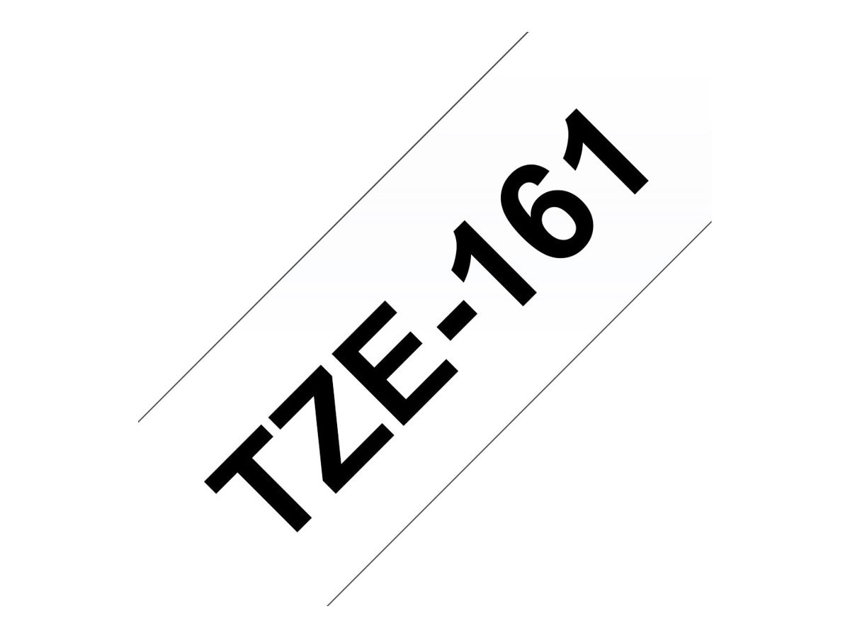 Brother 1.4 x 26.2' TZe161 Black on Clear Tape for P-Touch, TZE-161, 13058210, Paper, Labels & Other Print Media