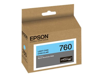 Epson Light Cyan Ultrachrome HD 760 Standard-Capacity Ink Cartridge, T760520, 19599172, Ink Cartridges & Ink Refill Kits