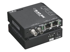 Black Box FE Copper to FE Fiber MM Standard Media Converter Switch w 115-VAC, ST, LBH110A-ST, 32876074, Network Switches
