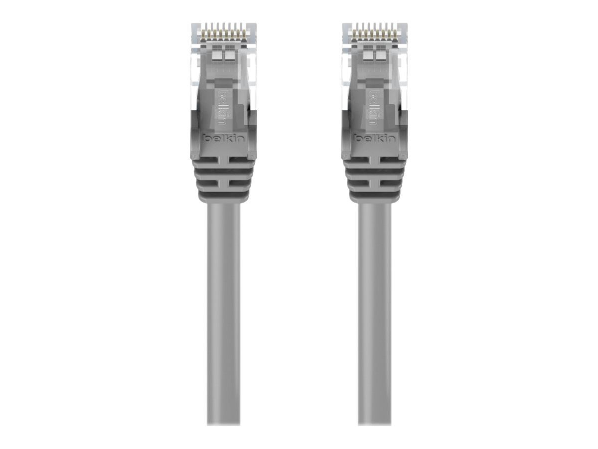 Belkin Cat6 UTP Snagless Patch Cable, Gray, 1ft, A3L980-01-S