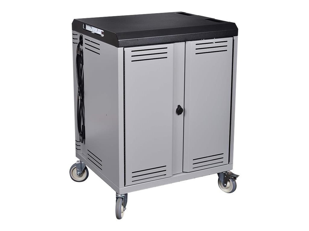 Spectrum Industries Connect36 Mobile Device Cart with Basic Timer and Rotated Outlets