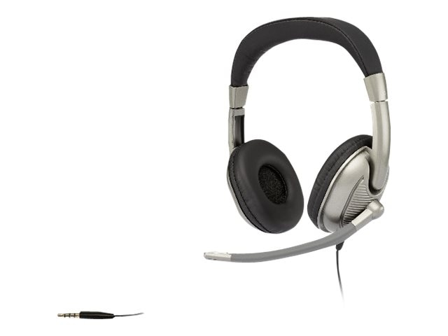 Cyber Acoustics Stereo Headphone - Adult w  Mic, AC-8002, 18039093, Headsets (w/ microphone)