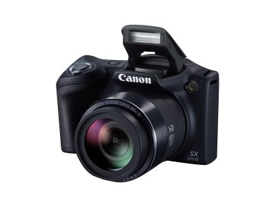 Canon PowerShot SX410 IS Digital Camera, 20MP, 40x Zoom, Black, 0107C001, 18891577, Cameras - Digital - Point & Shoot