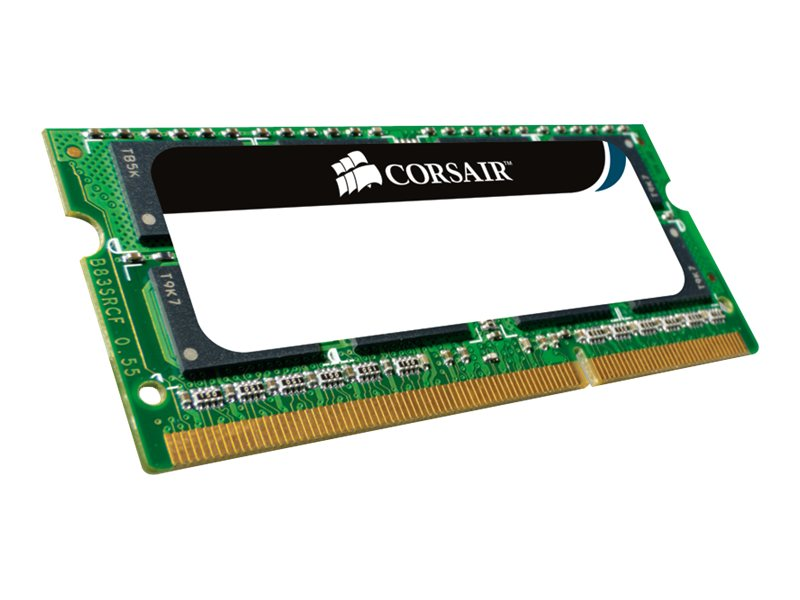 Corsair 1GB PC2-4200 200-pin DDR2 SDRAM SODIMM, VS1GSDS533D2, 5793572, Memory