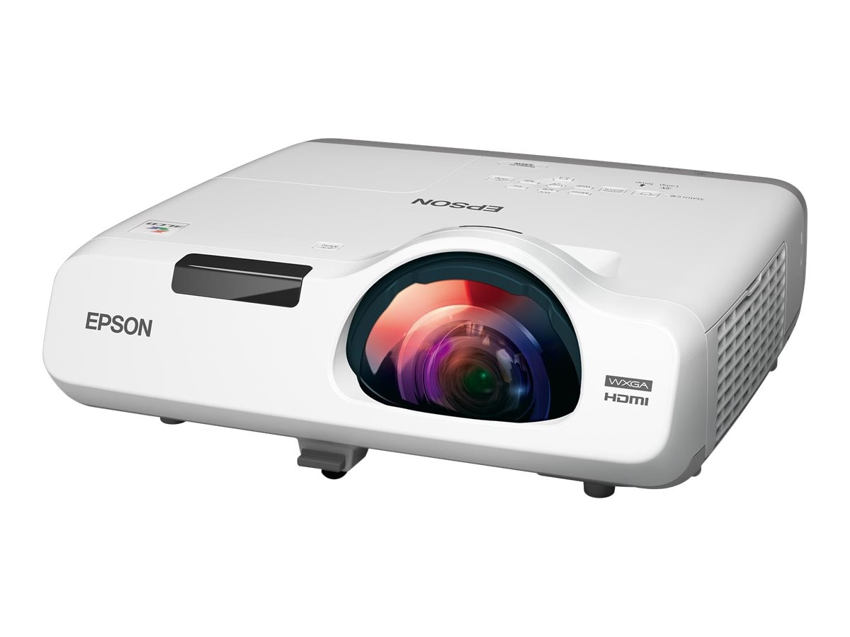 Epson PowerLite 535W WXGA 3LCD Projector, 3400 Lumens, White, V11H671020, 18101141, Projectors