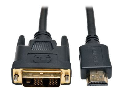 Tripp Lite HDMI to DVI M M Gold Digital Video Cable, 12ft, P566-012, 16702429, Cables