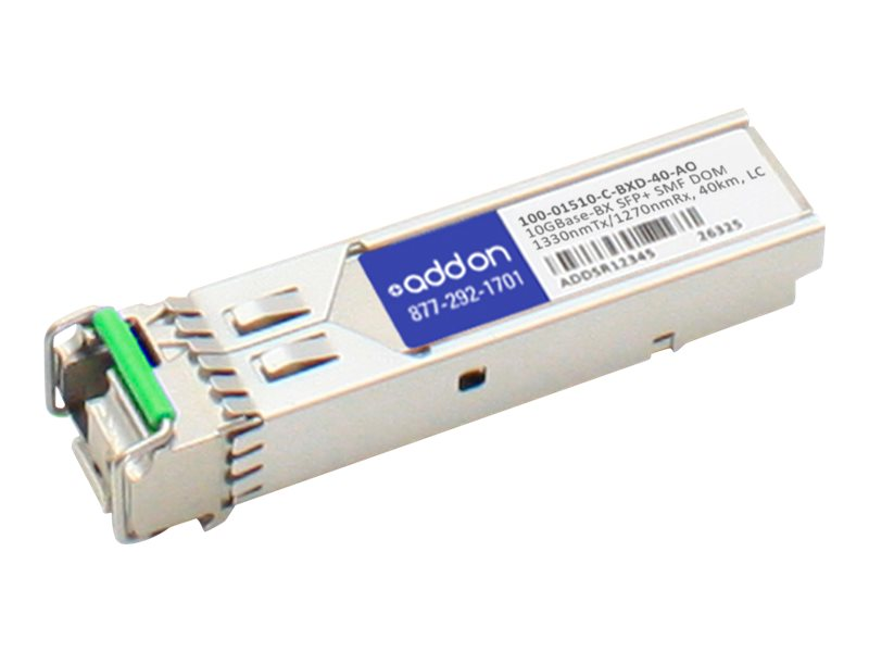 ACP-EP AddOn Calix10GBASE-BX SFP+ SMF Transceiver, 100-01510-C-BXD-40-AO
