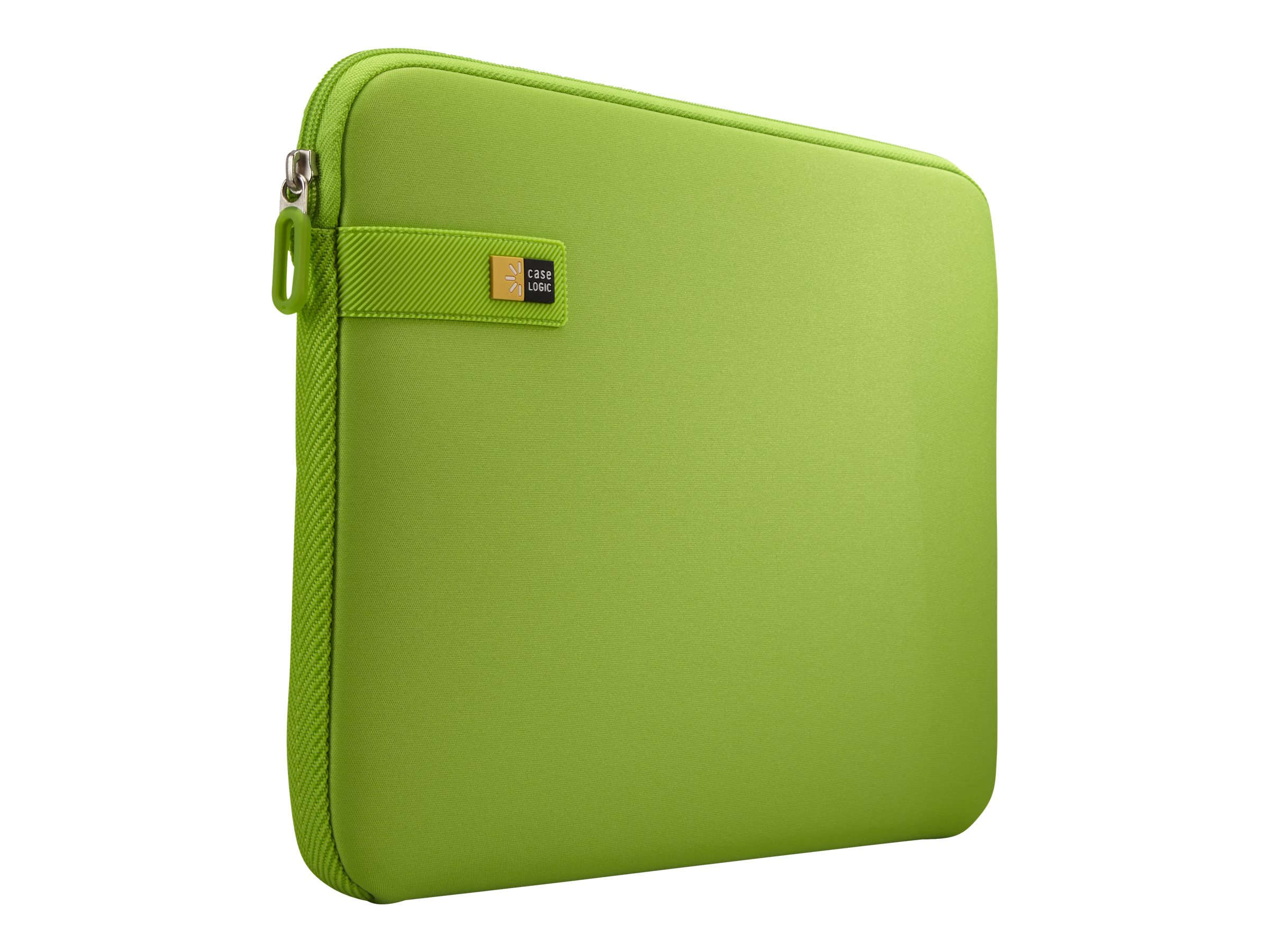 Case Logic 13.3 Laptop Sleeve, Lime, LAPS113LIME, 22612569, Carrying Cases - Notebook