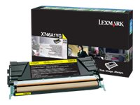 Lexmark Yellow Return Program Toner Cartridge for X746de & X748 Color Laser MFP Series