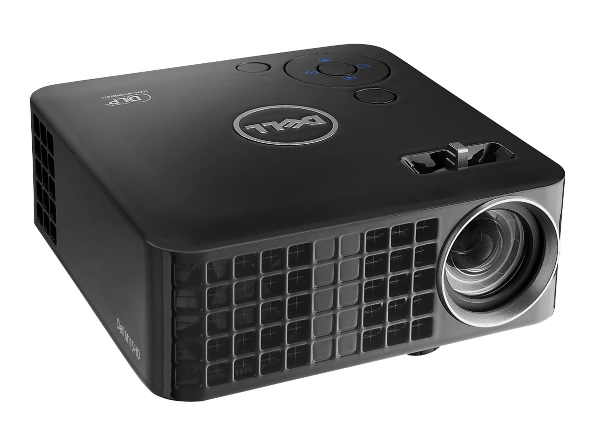 Dell M115HD WXGA DLP Projector, 450 Lumens, Black