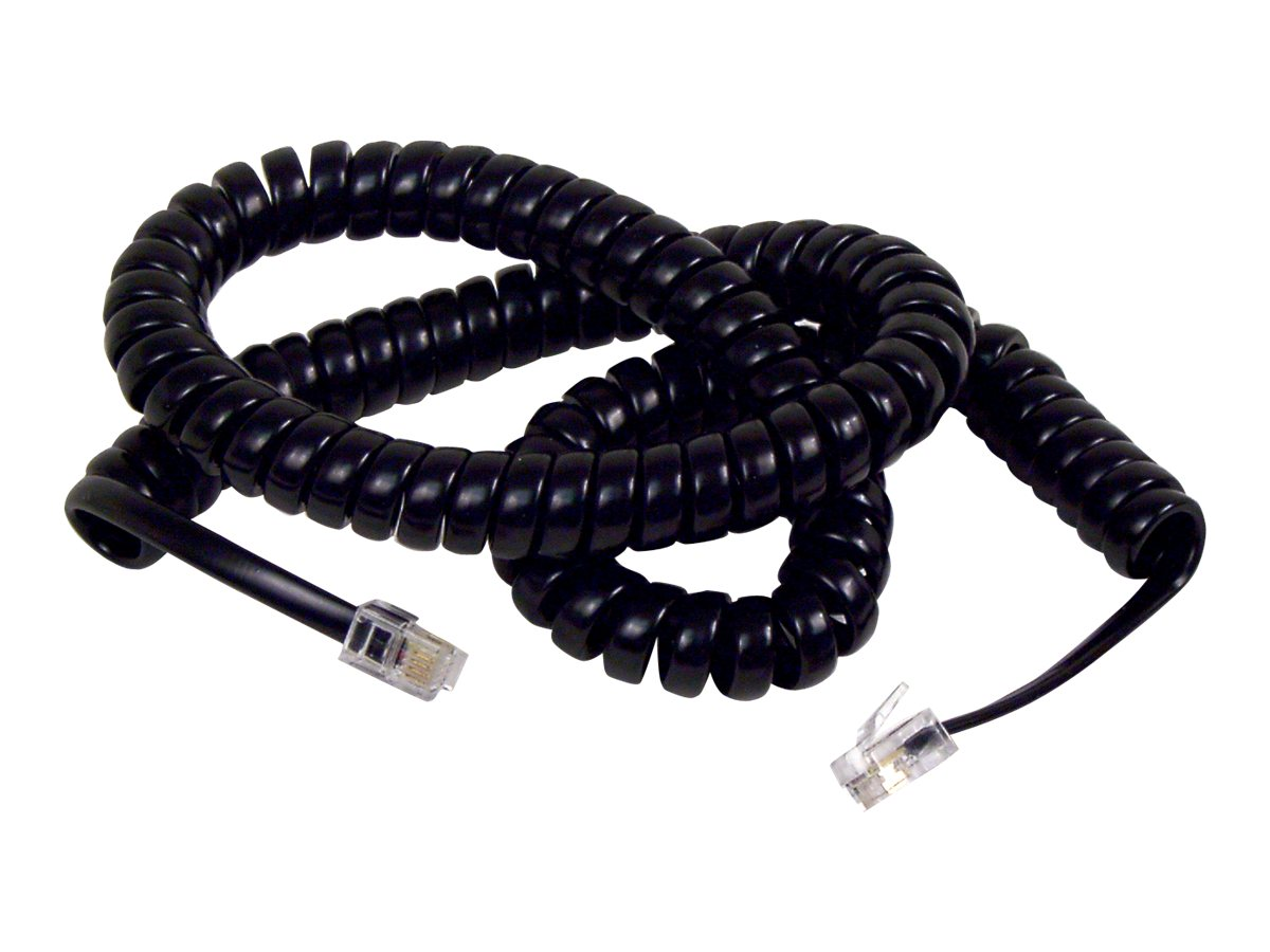 Belkin Coiled Pro Series Telephone HandSet Cord, Black, 12ft, F8V101-12-BK, 319432, Cables