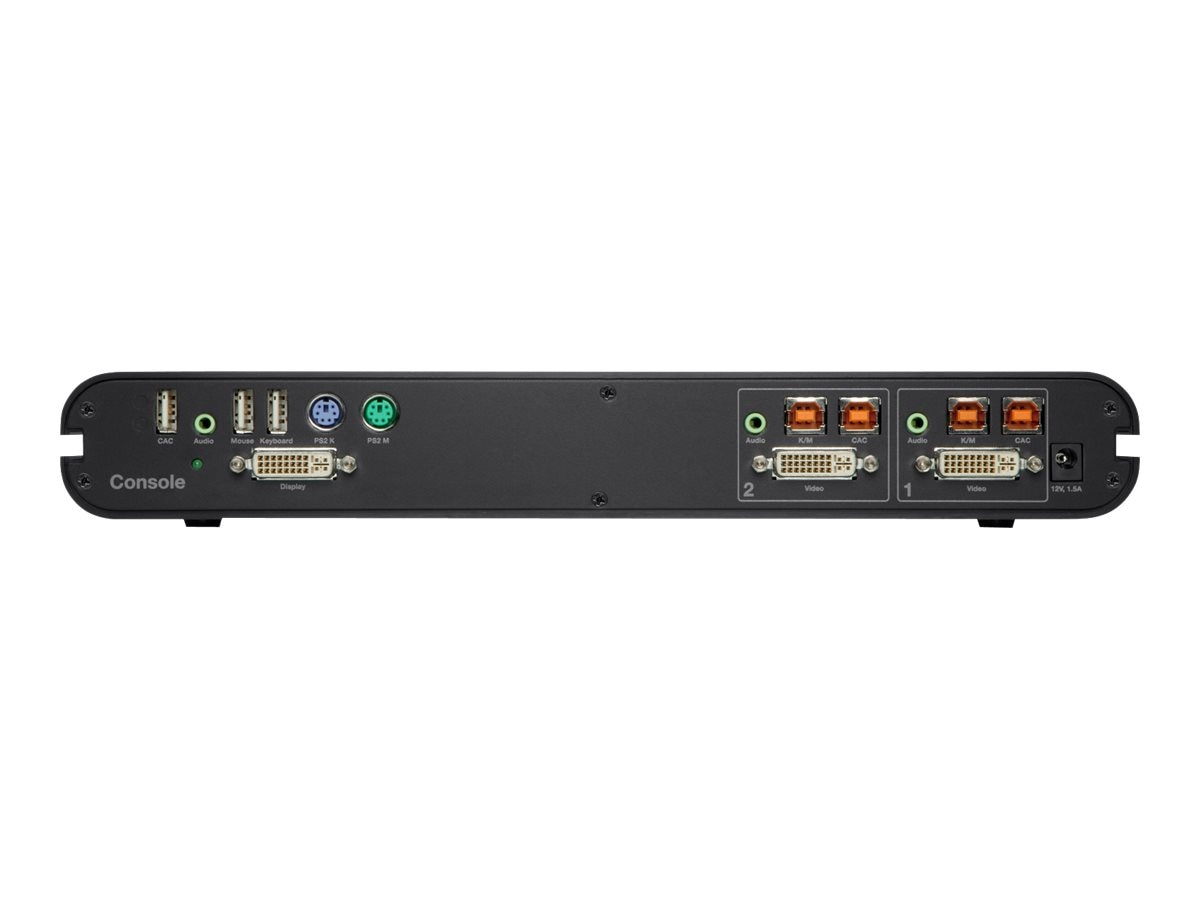 Belkin OmniView Secure 2-Port DVI-I KVM with Audio, CAC Support, F1DN102C