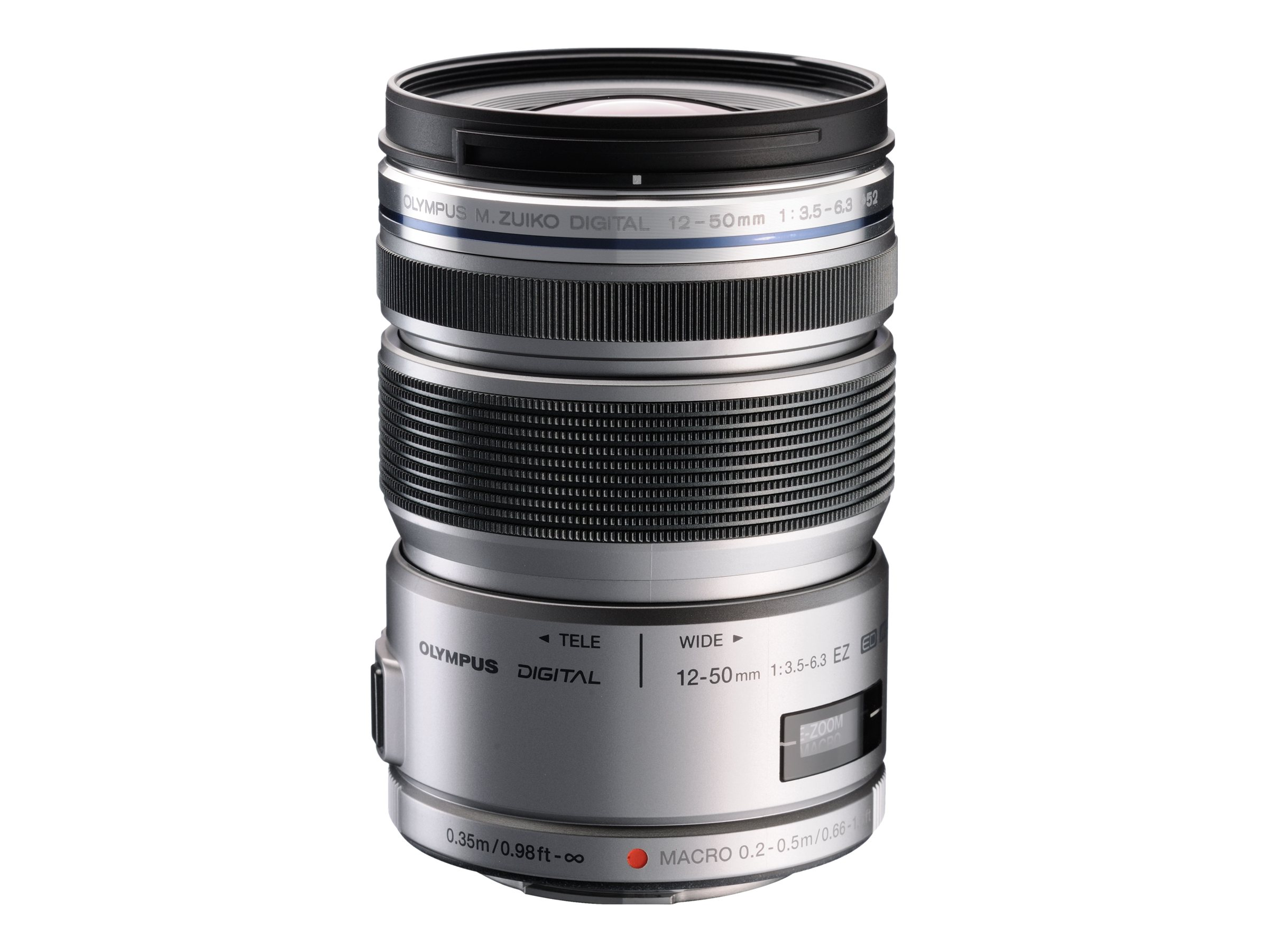 Olympus M. Zuiko Digital ED 12-50mm F3.5-6.3 EZ Lens - Silver, V314040SU000, 16209765, Camera & Camcorder Lenses & Filters