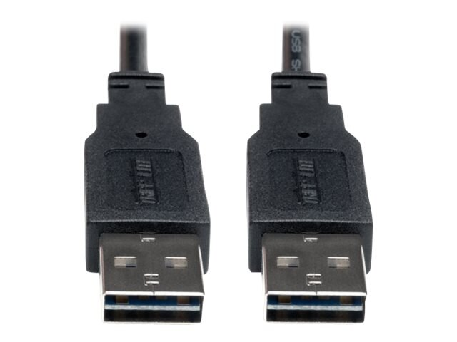 Tripp Lite Universal Reversible USB 2.0 A-Male to A-Male Cable, 6ft, UR020-006, 16130951, Cables