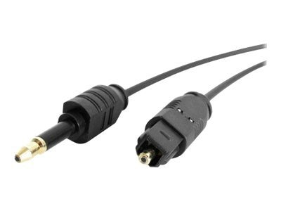 StarTech.com Digital Audio Cable, Thin Toslink to Miniplug, 10ft, THINTOSMIN10, 4919364, Cables