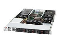 Supermicro SuperChassis 118G 1U RM Dual Single AMD Intel(x2) 6x2.5 HS Bays 6xPCI 1400W, CSE-118G-1400B, 14819906, Cases - Systems/Servers