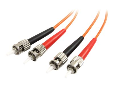 StarTech.com Fiber Optic Patch Cable ST-ST 62.5 125um Duplex Multimode, 2m, FIBSTST2, 185633, Cables