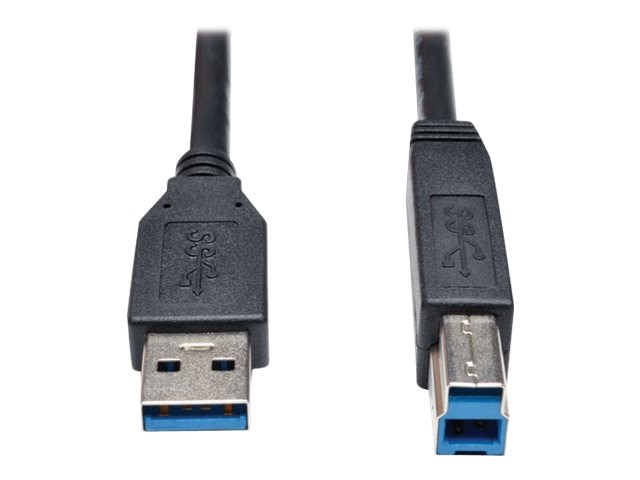 Tripp Lite USB 3.0 Type A to Type B m M SuperSpeed Cable, Black, 3ft, U322-003-BK, 17455394, Cables