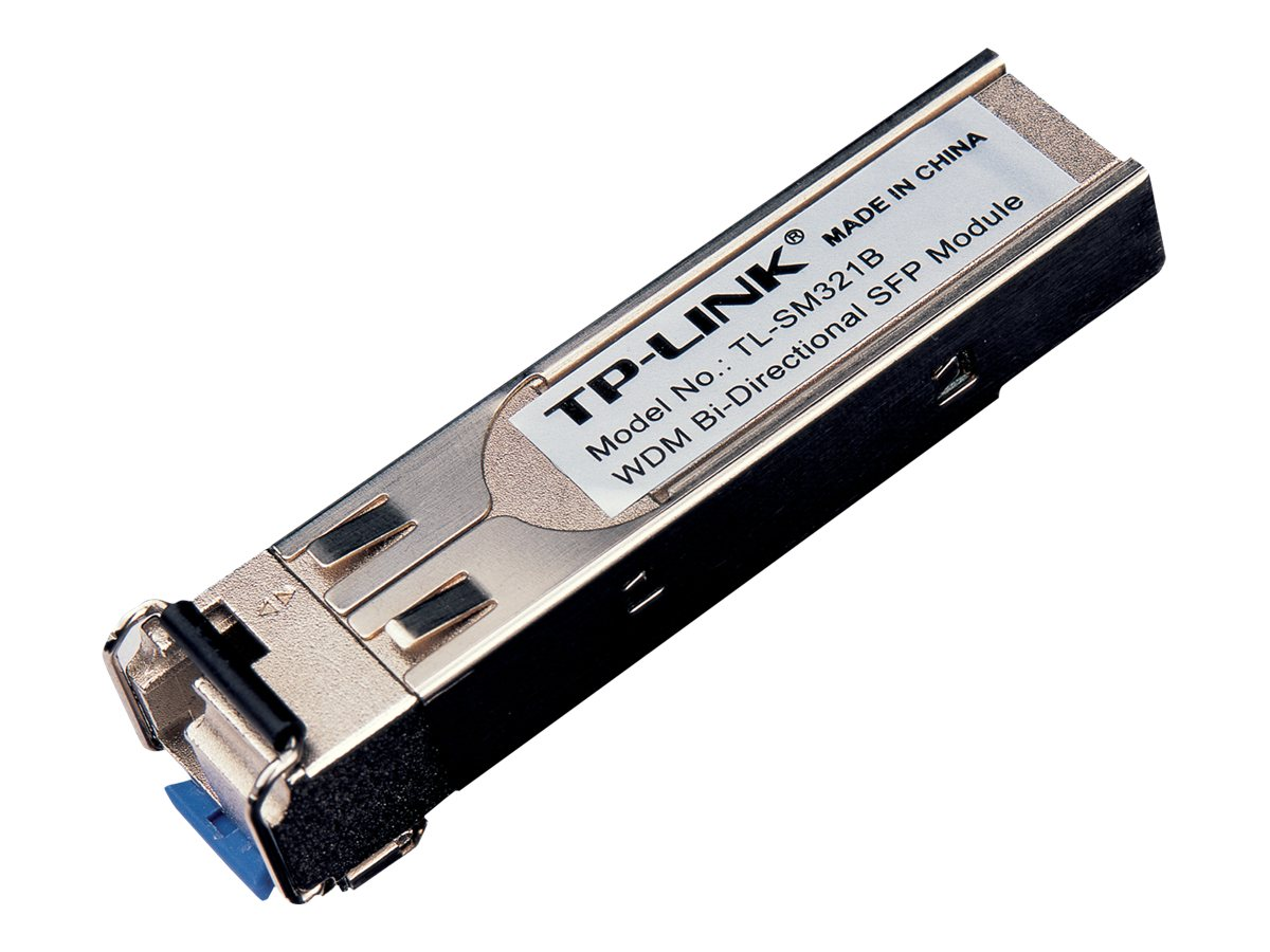 TP-LINK 1000Base-BX WDM Bi-Directional SFP Module, LC connector, TX:1310nm RX:1550nm, Single-Mode, 10km, TL-SM321B, 13544091, Network Transceivers