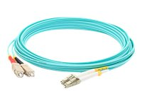 ACP-EP LC-ST 50 125 OM3 Multimode LOMM Fiber Patch Cable, Aqua, 6m