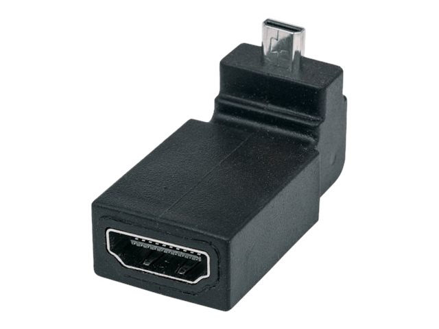 Manhattan HDMI A to Micro HDMI F M 90 Degree Up Angle Adapter, Black