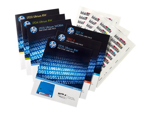 HPE LTO-7 Ultrium RW Bar Code Label Pack, Q2014A, 30952109, Paper, Labels & Other Print Media