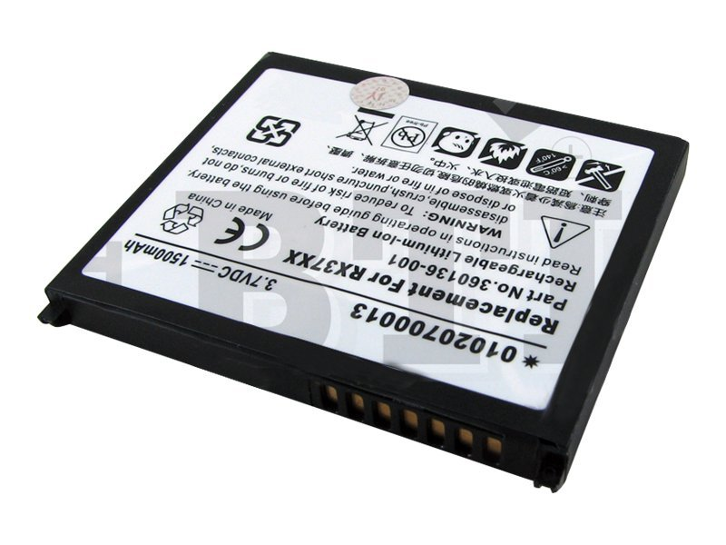 BTI Battery, Lithium-Ion, 3.7 Volts, 1500mAh, for iPAQ, PDA-HP-RX3715, 8443691, Batteries - Other