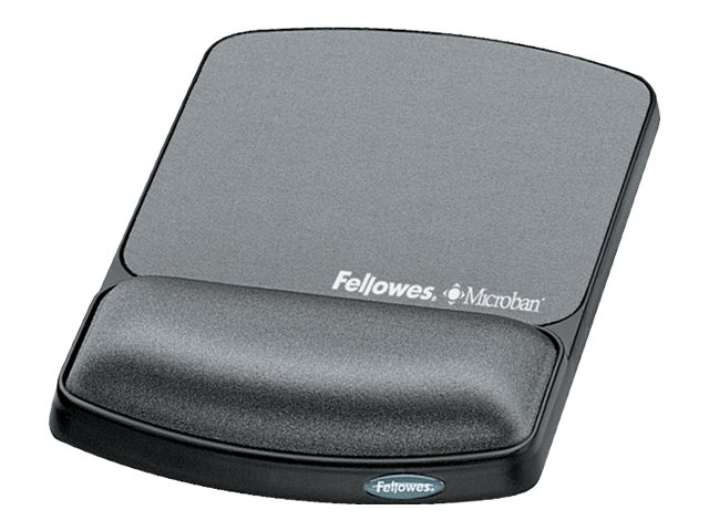 Fellowes Gel Wrist Rest and Mouse Pad with Microban, Graphite