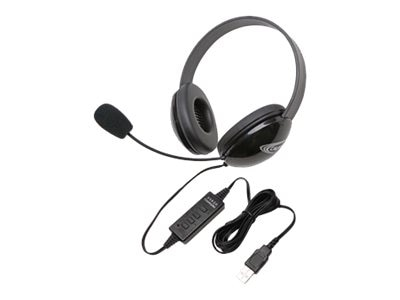 Ergoguys Stereo Headphones w  USB Plug via ErgoGuys - Black, 2800BK-USB