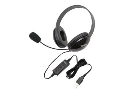 Stereo Headphones w  USB Plug via ErgoGuys - Black, 2800BK-USB, 17584997, Headsets (w/ microphone)