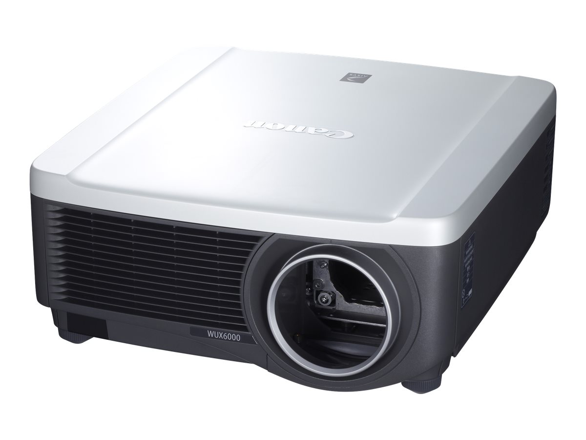 Canon REALiS WUX6000 WUXGA LCoS Projector, 6000 Lumens, White Black, Standard Zoom Lens, 9726B014