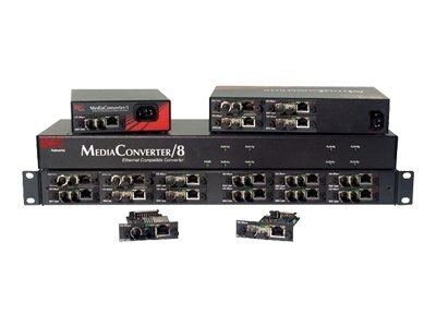 IMC Media Converter 12X 1U 12-Slot Rackmount Chassis, AC Power Supply, 851-10912, 8224084, Adapters & Port Converters
