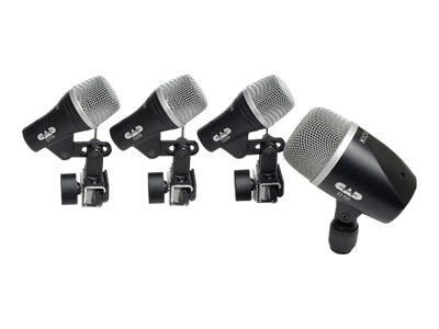 CAD Microphones 4-Piece Drum Mic Kit 3 Tom Snare & 1 Kick Mics, STAGE4, 17038347, Microphones & Accessories
