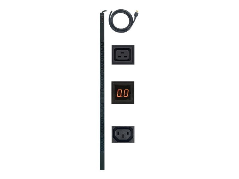 CyberPower Metered PDU 208V 30A 0U L6-30P Input Cord 10ft (24) C13 (6) C19 Front Outlets, PDU30MVHVT30F, 12601161, Power Distribution Units