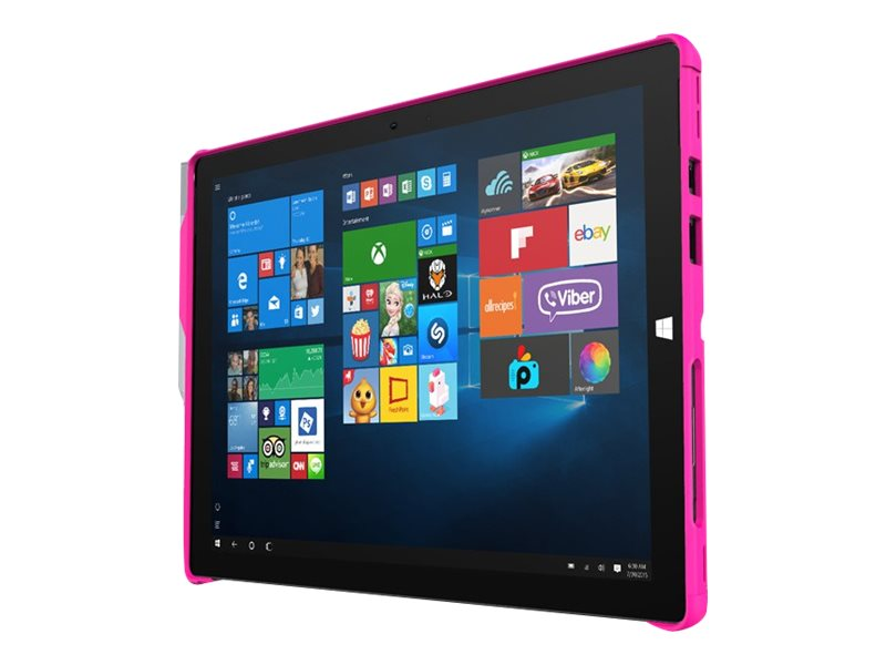 Incipio Feather Hybrid Co-Molded Rugged Case with Shock Absorbing Frame for Microsoft Surface Pro 4, Pink, MRSF-092-PNK
