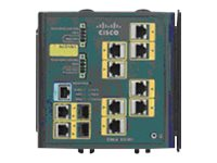 Cisco Industrial Ethernet Switch with (8) Ethernet 10 100 Ports, (2) Dual-purpose Uplink Ports