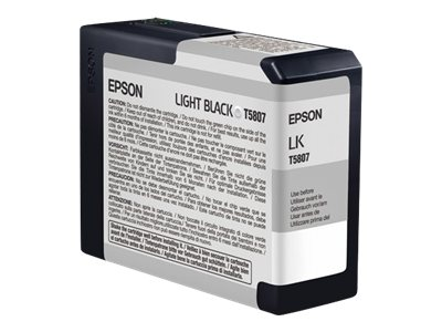 Epson 80 ml Light Black UltraChrome K3 Ink Cartridge for Stylus Pro 3800 3800 Professional Edition, T580700