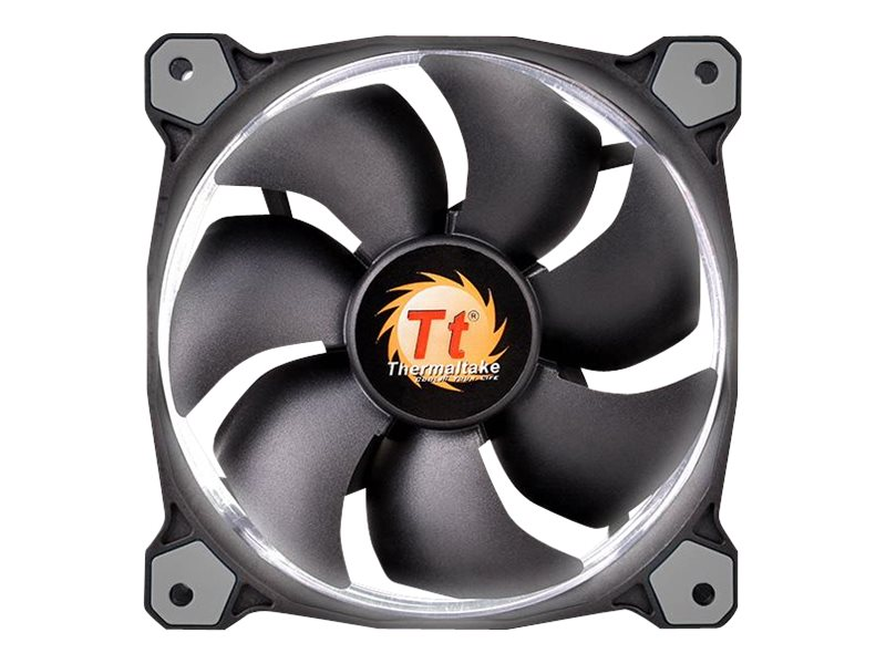 Thermaltake Riing 14 High Static Pressure LED Radiator 140mm Fan 1400 RPM, White