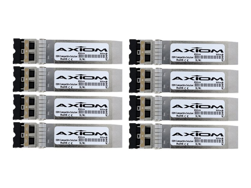 Axiom 10GBase-SR SFP+ XCVR Transceiver for Brocade (8 pack), 10G-SFPP-SR8-AX