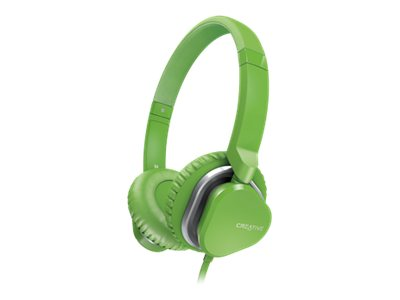 Creative Labs HITZ MA2400 Headset, Green, 51EF0640AA011, 16155841, Headsets (w/ microphone)