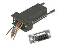 C2G RJ45 to DB9M Modular Adapter, Black (02947), 02947, 454936, Adapters & Port Converters