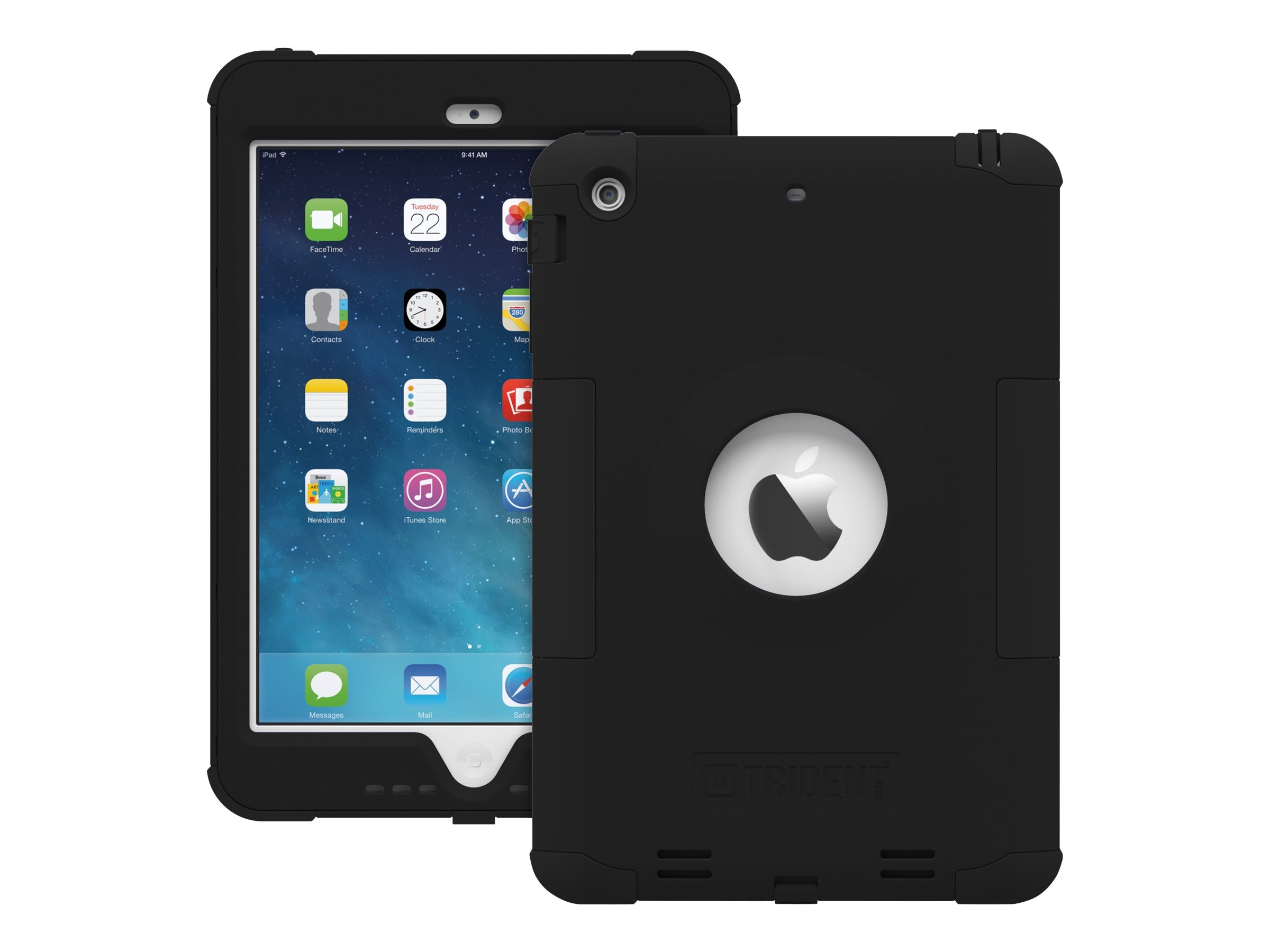 Trident Case Kraken AMS Case for Apple iPad mini w  Retina Display, Black, AMSAPLIPADMINI2USBK