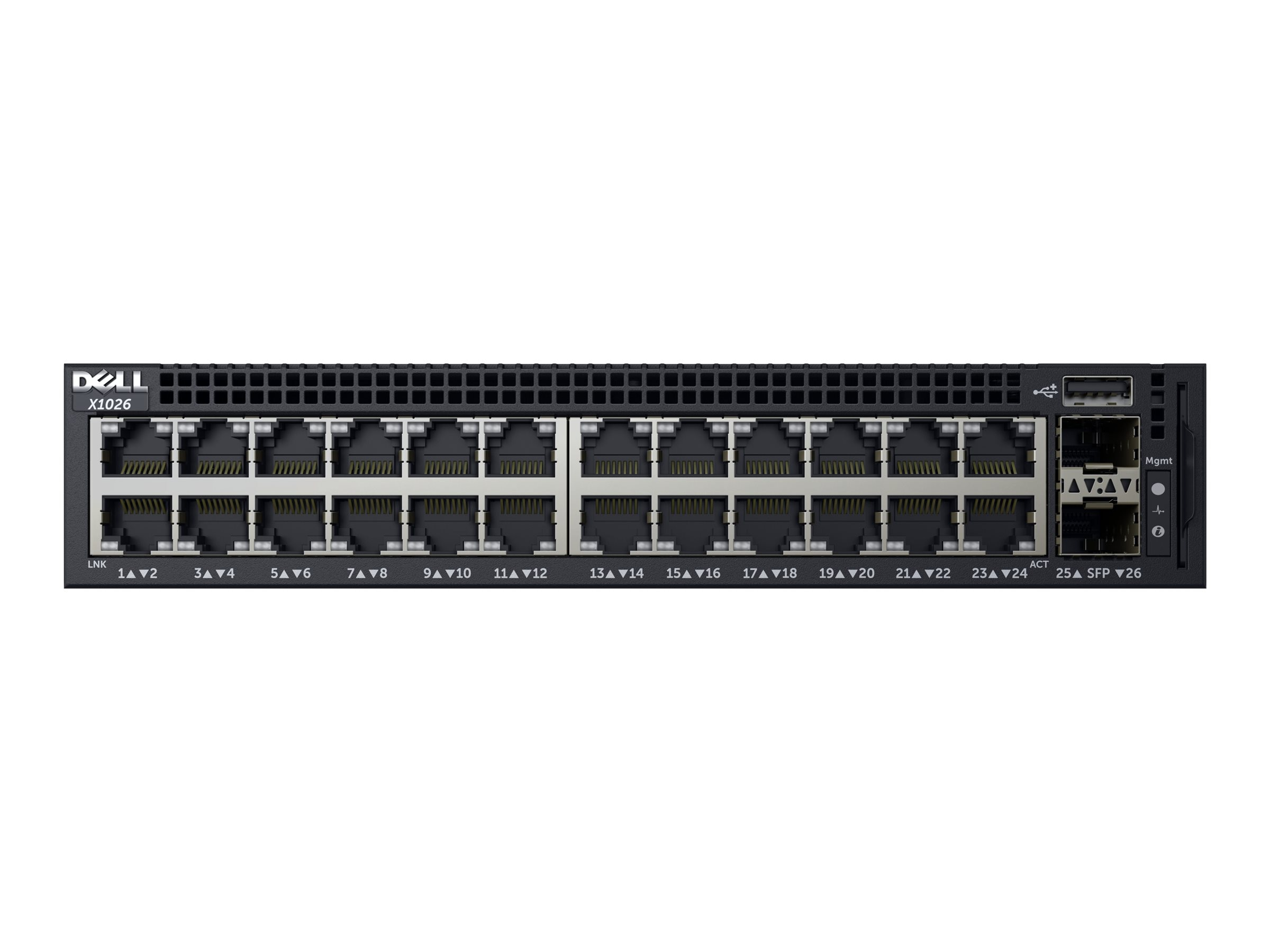 Dell x1026 24-Port 1GbE Smart Web Managed Switch with 2x1GbE SFP Ports, 463-5537