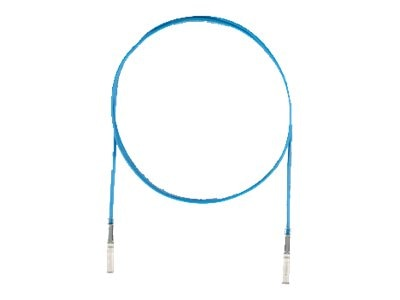 Panduit SFP+ 10Gig Direct Attach Active Copper Cable, Blue, 7m