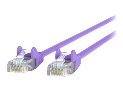 Belkin Cat5e Patch Cable, Purple, 3ft, Snagless