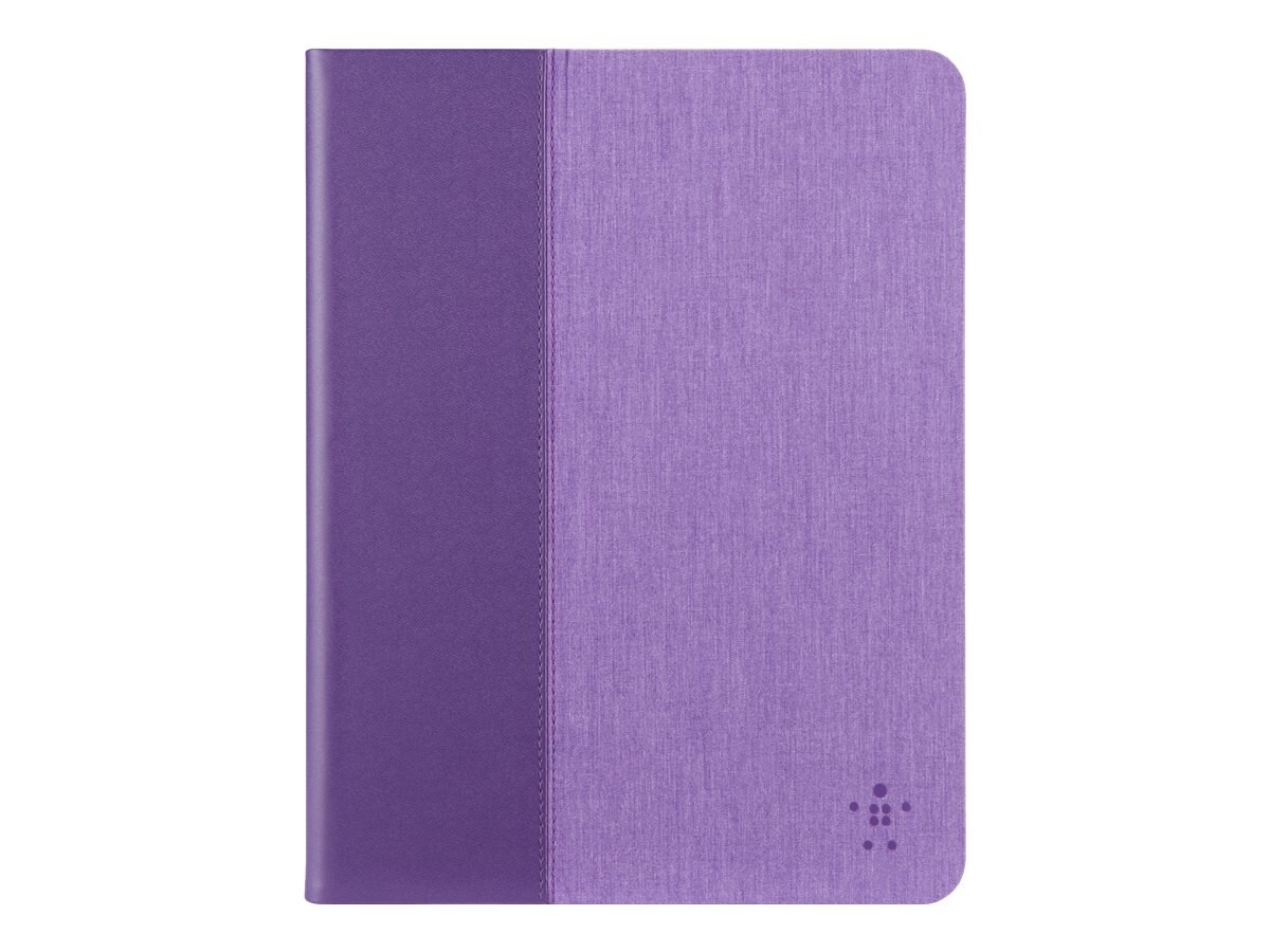 Belkin Chambray Cover for iPad Air 2 and iPad Air, Purple, F7N263B1C01