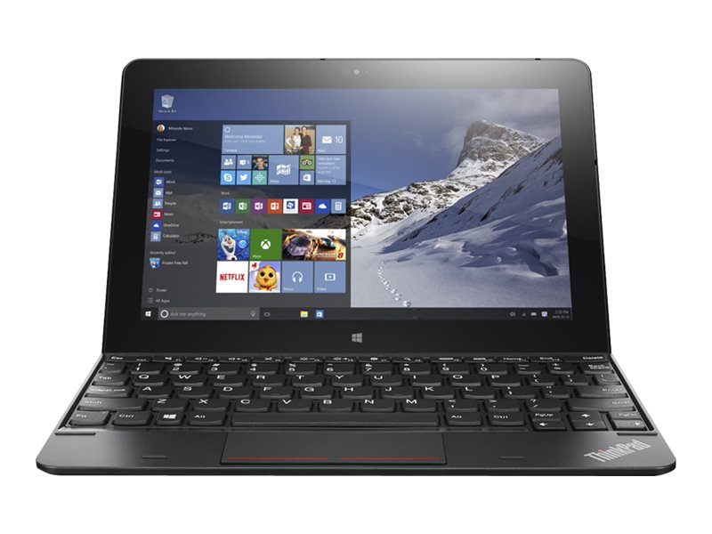 Lenovo TopSeller ThinkPad 10 G2 1.6GHz processor Windows 10 Pro 64-bit Edition, 20E3000SUS