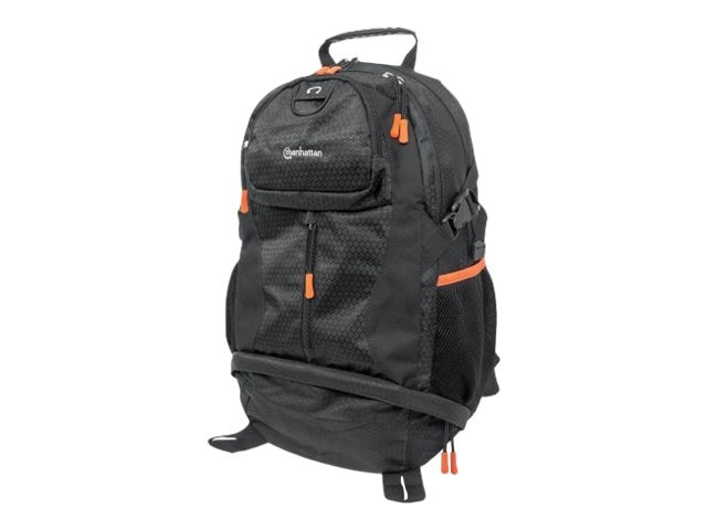 Manhattan Trekpack Heavy-Duty, Top-Loading, Four-Compartment Backpack for Up To 17 Laptops, Black Orange, 439763, 28826955, Carrying Cases - Notebook
