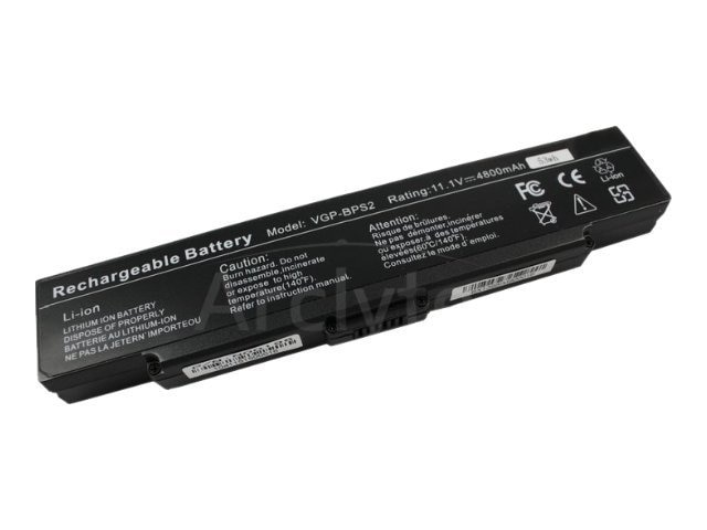 Arclyte Battery Performance-Lithium Li-Ion 11.1V 5200mAh 6-cell for Sony Vaio, N00196, 16204569, Batteries - Notebook