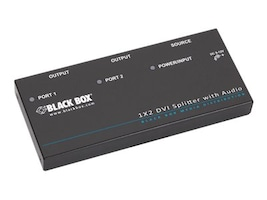 Black Box 1 X 2 DVI-D SPLITTER WITH AUDIO AND HDCP, AVSP-DVI1X2, 33058188, Network Routers